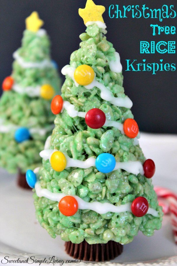 christmas tree rice krispies