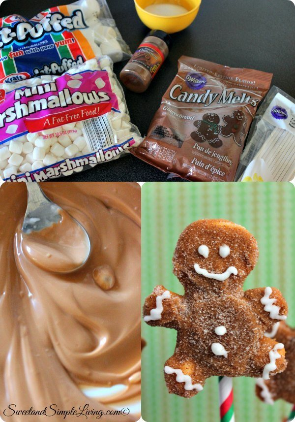 diy gingerbread marshmallow pops
