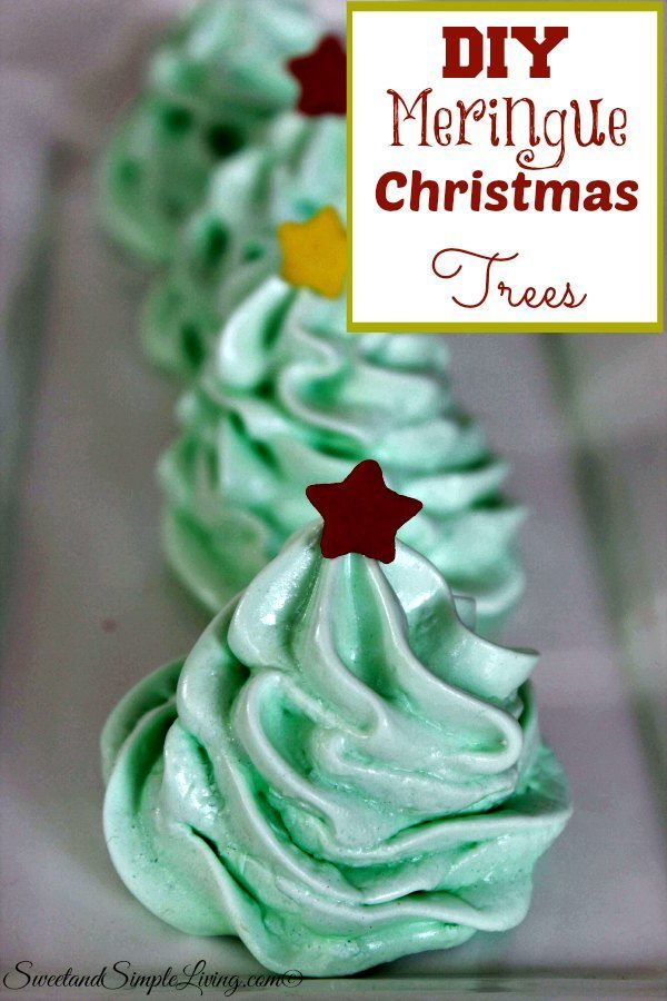 Christmas Tree Meringue.Diy Meringue Christmas Trees Sweet And Simple Living
