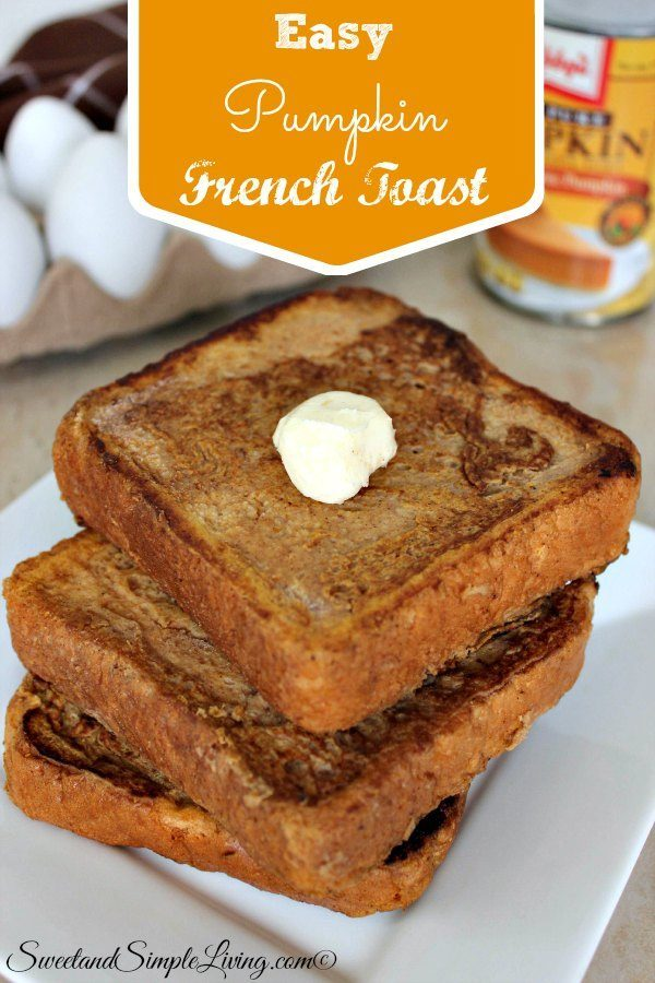 easy pumpkin french toast