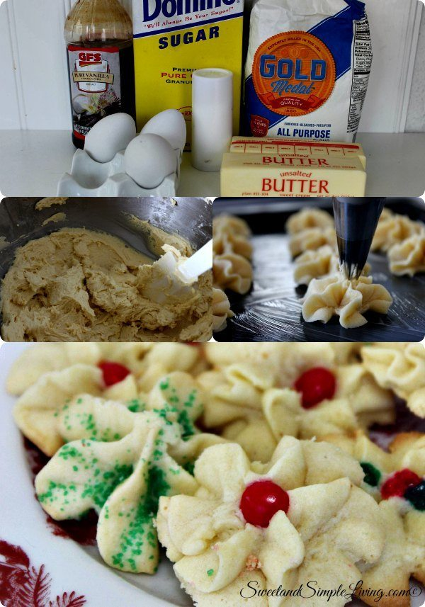 holiday spritz butter cookies coll