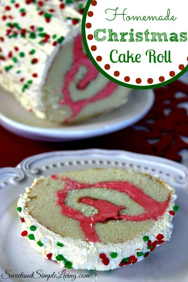 homemade christmas cake roll