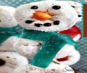 Mini Donut Snowman Treats