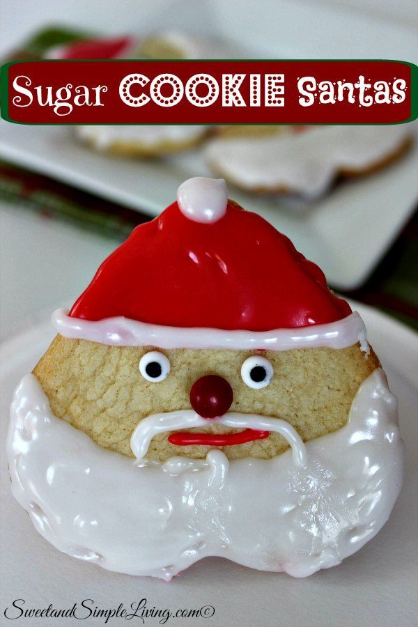 sugar cookie santas