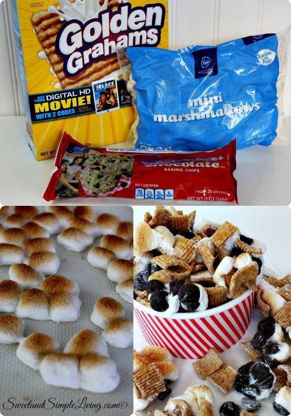 4 ingredient s'mores snack mix