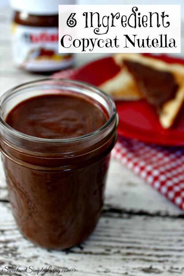 6 ingredients copycat nutella