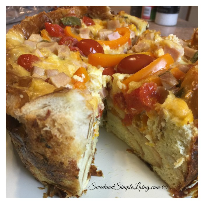 Crockpot Garlic Bread Quiche Recipe