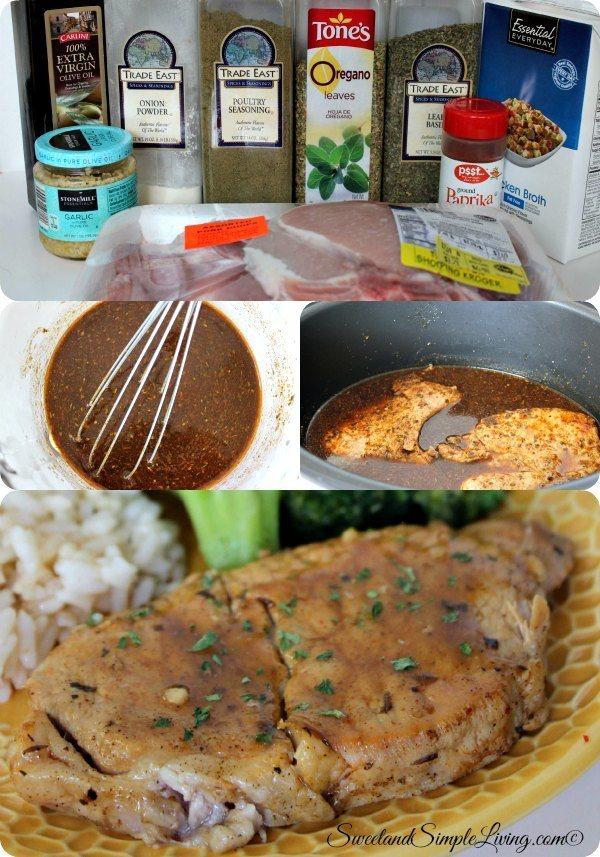 crock pot herbed pork chops