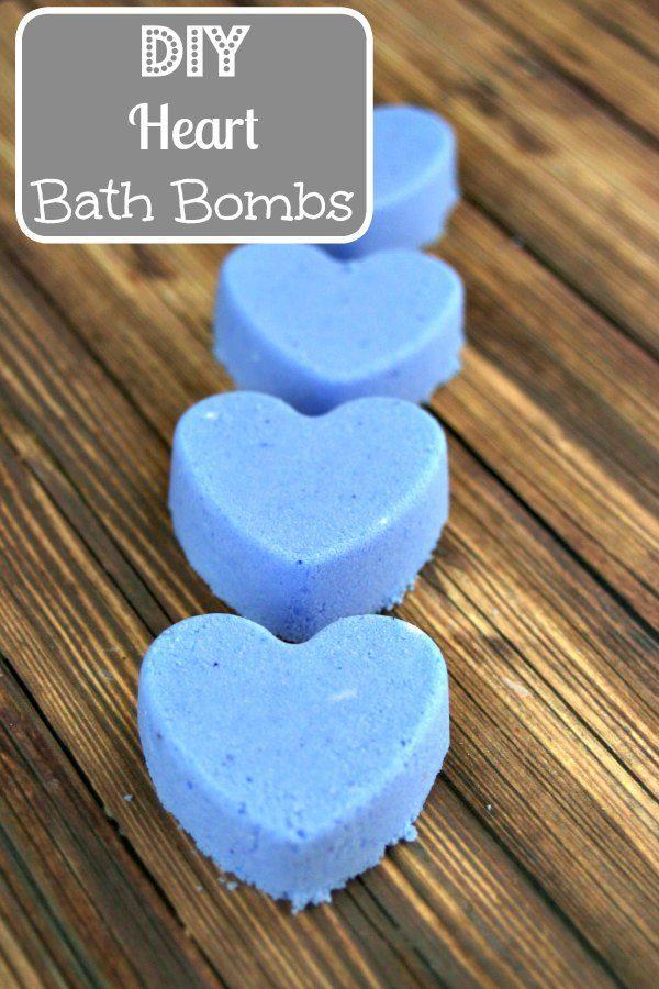 diy heart bath bombs