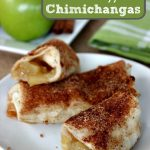 Homemade Baked Apple Chimichangas