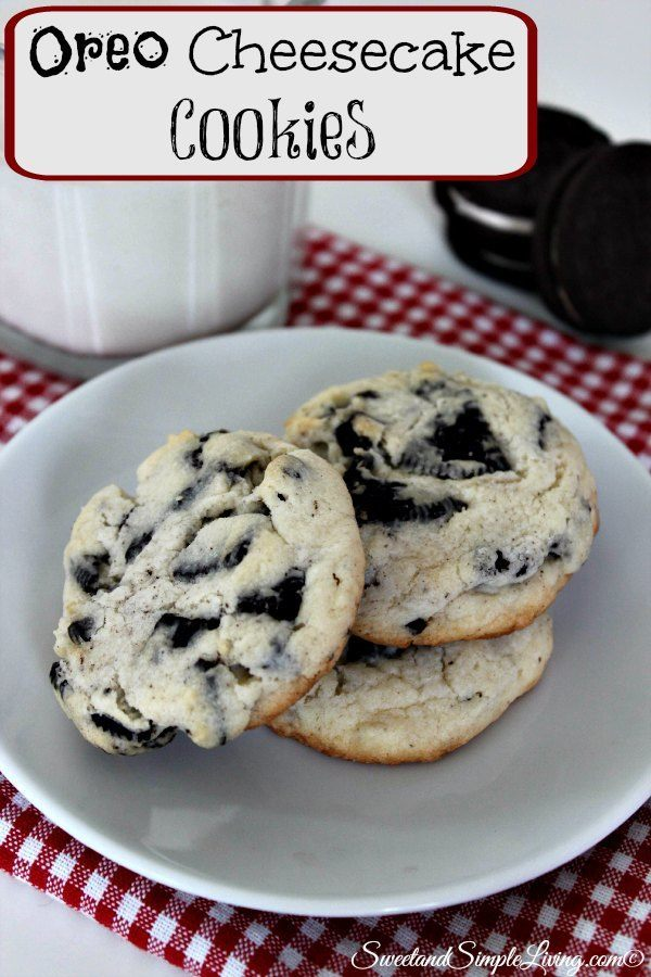 Oreo Cheesecake Cookies - Sweet and Simple Living