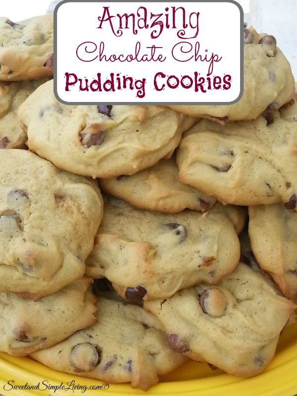 Amazing Chocolate Chip Pudding Cookies!!