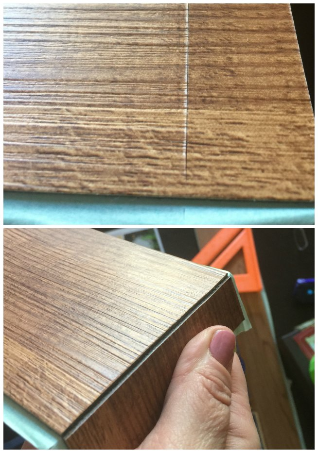 cutting vinyl for faux pallet walls