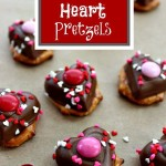 Easy Chocolate Heart Pretzels