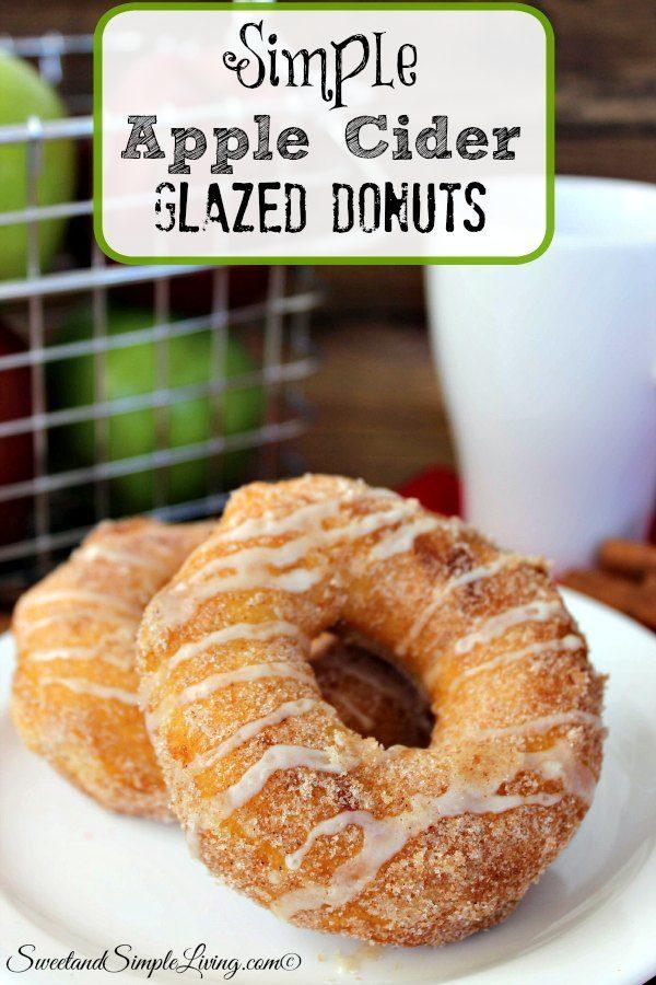 simple apple cider glazed donuts