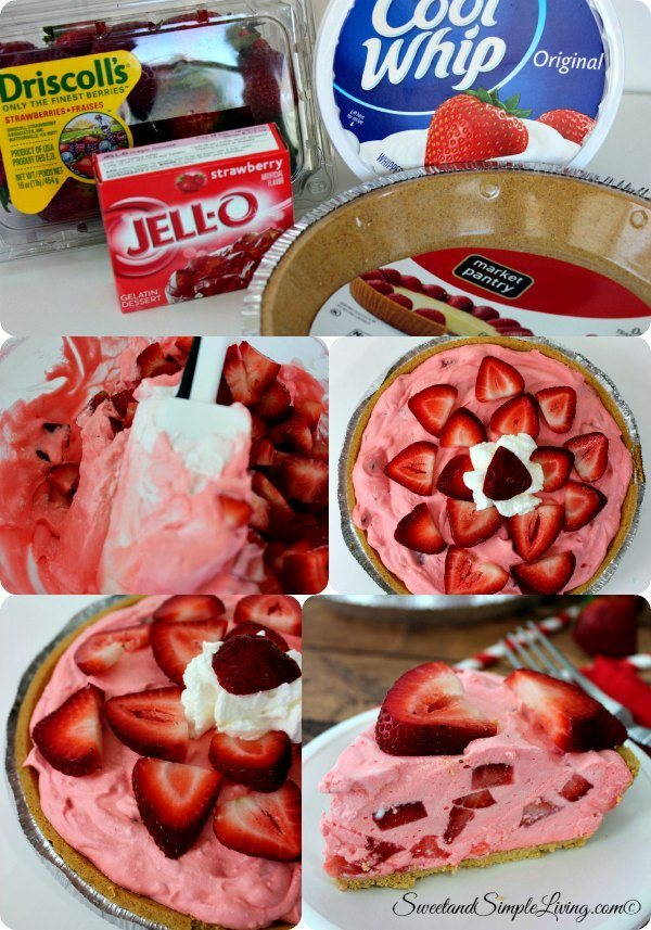 simple strawberry mousse pie