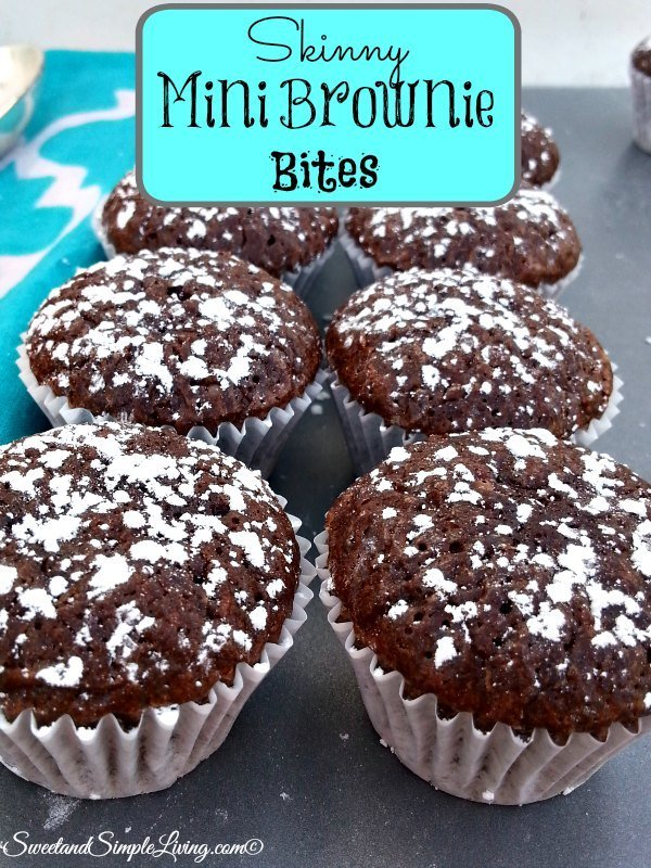 skinny mini brownie bites