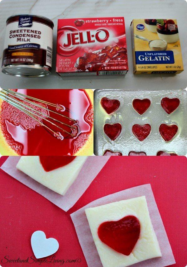 strawberrry jello hearts
