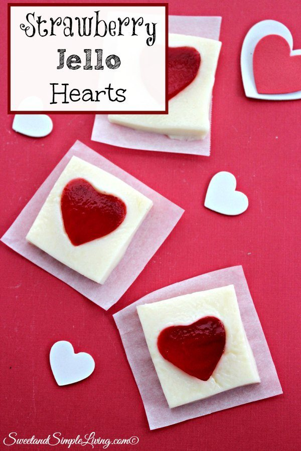 strawberry jello hearts