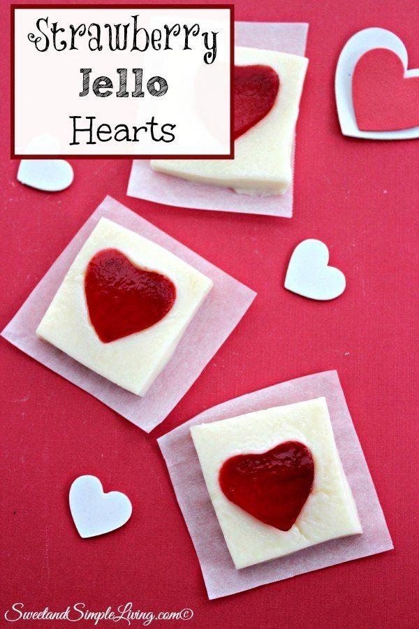 strawberry jello hearts