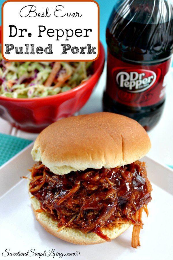 best ever dr pepper pulled pork