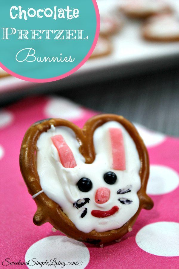 chocolate pretzel bunnies