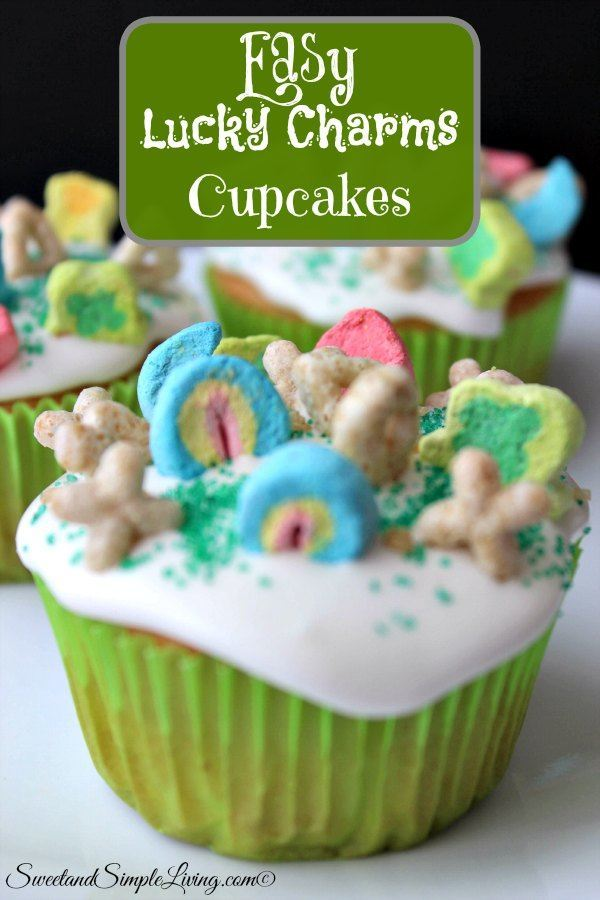 Easy Lucky Charms Cupcakes! So Cute and Easy to Make!