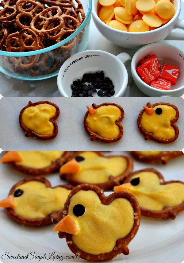 easy pretzel chicks