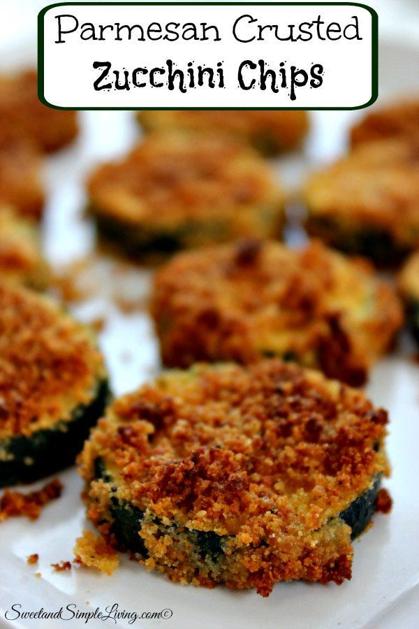 parmesan crusted zucchini chips
