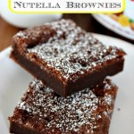 Easy 2 Ingredient Nutella Brownies