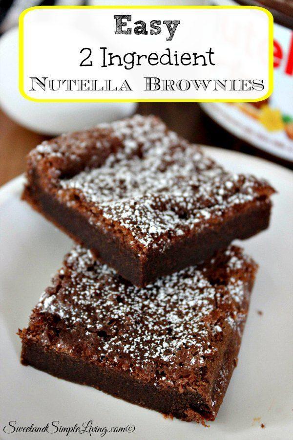 easy 2 ingredient nutella brownies