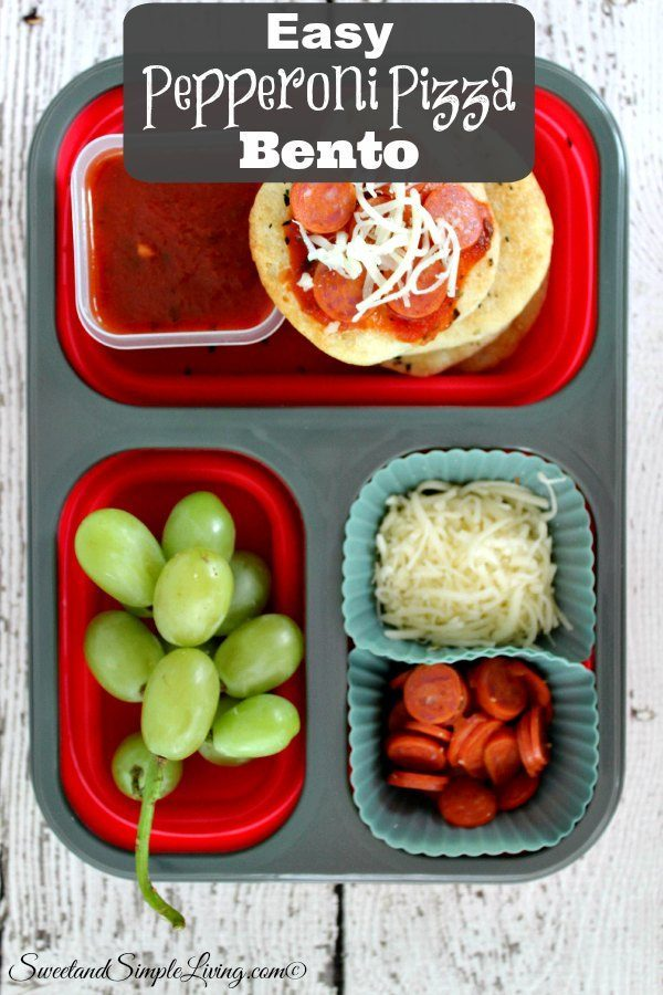 easy pepperoni pizza bento