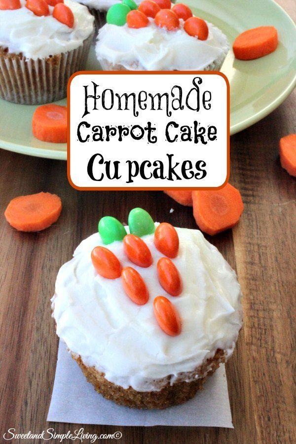 homemade carrot cake cupcakes