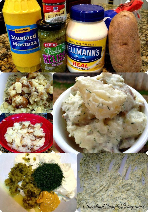 homemade dill potato salad
