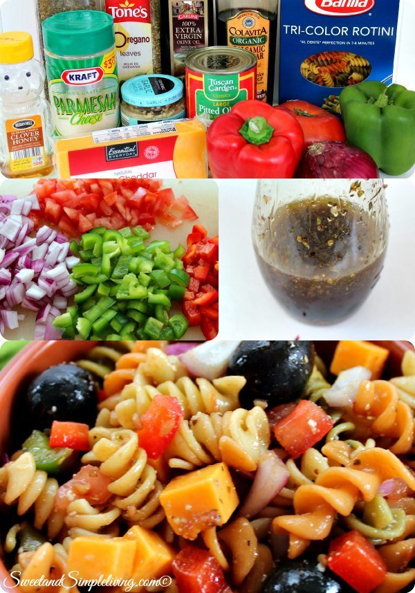 pasta salad with balsamic vinaigrette