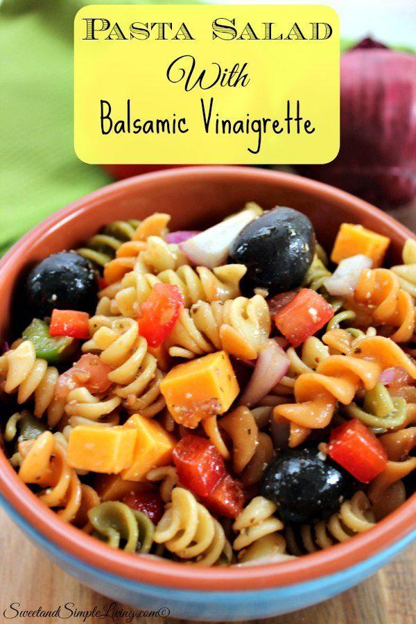 Pasta salad dressing recipes balsamic