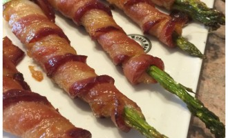 Appetizer Idea:  Bacon Wrapped Asparagus