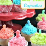 Colorful Sour Patch Cupcakes