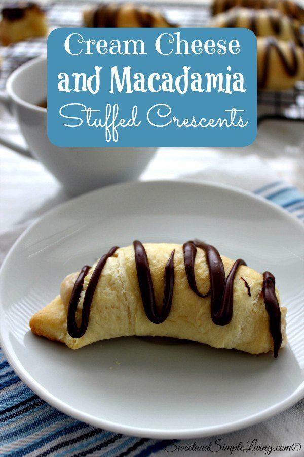 cream cheese and macadamia stuffed crescents