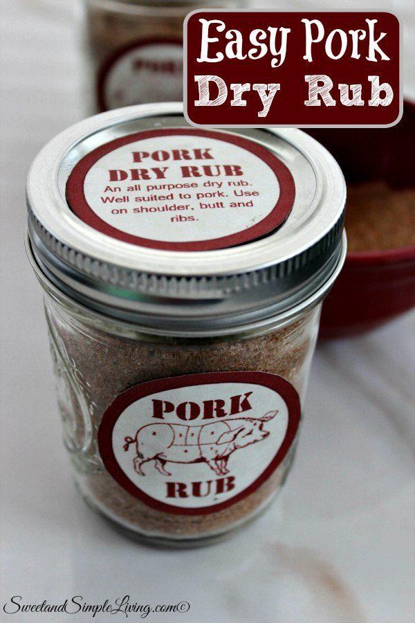 easy pork dry rub