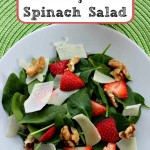Easy Strawberry Walnut Spinach Salad