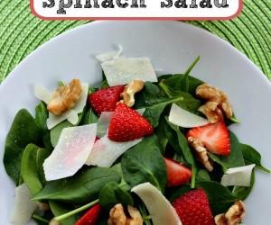 Easy Strawberry Walnut Spinach Salad