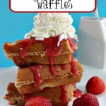 Homemade Strawberry Belgian Waffles