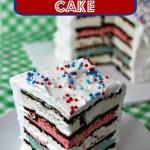 Patriotic Ice Cream Sandwich Cake