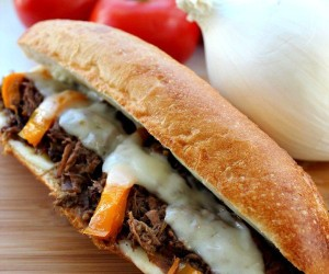 Slow Cooker Cheese Steak Recipe