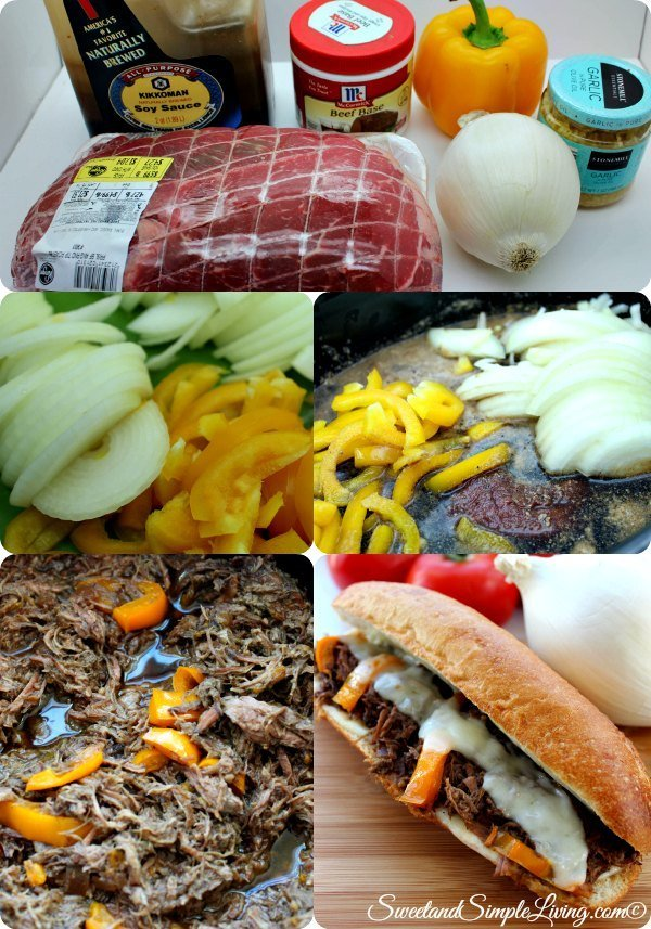 slow cooker cheese steak