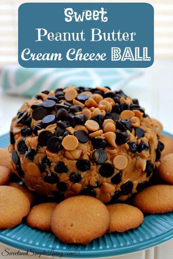 sweet peanut butter cream cheese ball