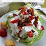 Wedge Salad with Homemade Dressing