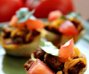 Baked Mini Taco Bowls