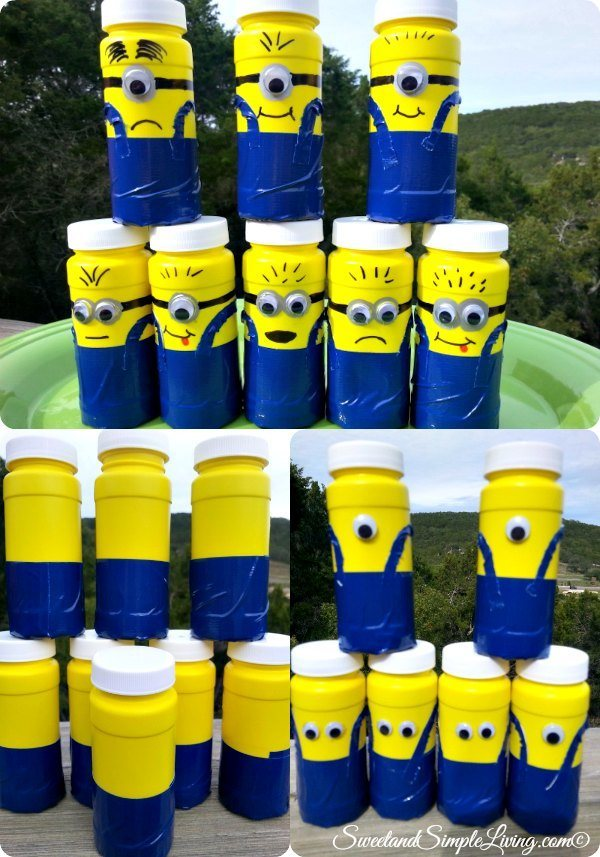 diy minion bubbles coll